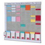 Nobo - Kit Office Planner 8 colonnes 24 fentes, inclus 700 fiches T2, 100 fiches T1, 2 supports en aluminium de la marque Nobo image 3 produit