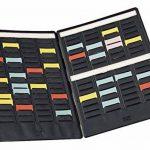 Nobo Mini-planning à fiches T indice 1.5/4 volets et 17 fentes de la marque Nobo image 1 produit