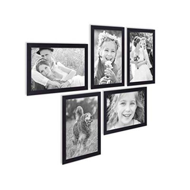 Galerie Photos Cadre Photo Bois 12 photos blanc//noir cadre photo collage des images