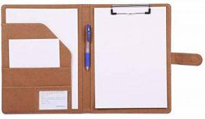 Porte Bloc A4 Porte Documents, Bloc Note a4 Range Documents Porte-bloc, a4 Organiseur Trieur (Marron) de la marque Mymazn image 0 produit