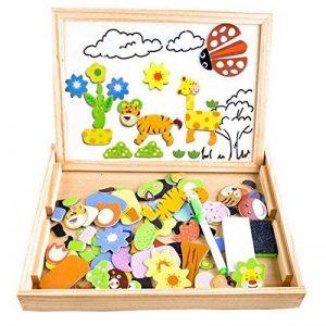 Puzzles Enfant en Bois Magnétique, COOLJOY Jigsaw avec Tableau Noir de Chevalet à Double Face Jouets Educatif pour Bambin Enfants Fille 3 Ans 4 Ans 5 Ans - 100 Pièces de la marque COOLJOY image 0 produit