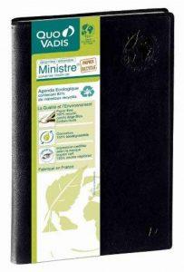 QUO VADIS - 1 Ministre Recyclé - Agenda civil semainier 16 x 24 cm Noir - Janv. à Déc. 2018 de la marque Quo Vadis image 0 produit