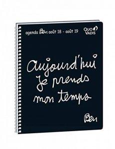 Quo Vadis Ben PRESIDENT SEPT Spiralé Agenda scolaire Semainier 21x27cm Noir Année 2018-2019 de la marque Quo Vadis image 0 produit