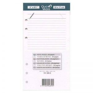 QUO VADIS Recharge Accessoires Organiseur FICHES NOTES Timer 17 Blanc 10 x 17 cm de la marque Quo Vadis image 0 produit
