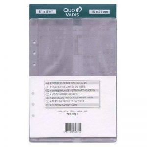 QUO VADIS Recharge Accessoires Organiseur POCHETTE CARTES VISITE Timer 21 15 x 21 cm de la marque Quo Vadis image 0 produit