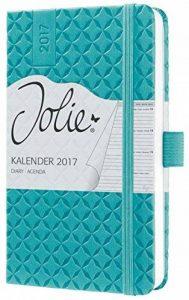 Sigel J7102 Agenda semainier Jolie 2017, Environ A6, Hardcover, turquoise de la marque Sigel image 0 produit
