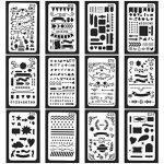 Swesy 24pièces DIY Dessin modèles Bullet Journal Pochoirs–Plastique Planning Pochoirs Dessin Ensemble de modèles pour ordinateur portable, Agenda, scrapbooking style 1 de la marque image 1 produit
