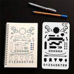 Swesy 24pièces DIY Dessin modèles Bullet Journal Pochoirs–Plastique Planning Pochoirs Dessin Ensemble de modèles pour ordinateur portable, Agenda, scrapbooking style 1 de la marque image 4 produit