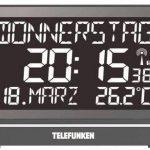Telefunken Radioréveil / Horloge murale numérique FUX-HRB-700(B) avec écran LCD XXL, parfait pour les personnes âgées,avec écran négatif haute résolution, port USB pour alimentation externe,8 alarmes programmes, par exemple, pour la prise de médicaments image 1 produit